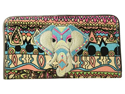 Sakroots Artist Circle Slim Wallet (Aqua One World) Wallet Handbags