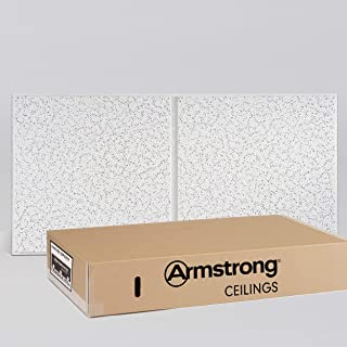 Armstrong Ceiling Tiles; 2x4 Ceiling Tiles - Acoustic Ceilings for Suspended Ceiling Grid; Drop Ceiling Tiles Direct from the Manufacturer; CORTEGA Second Look Item 2767 – 10 pcs White Tegular