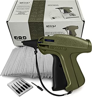 """GILLRAJ MILAN Clothes Tagging Gun with 2000 2"""" Standard Barbs and 6 Needles Clothing Retail Price Tag Gun Kit for Boutique Store Warehouse Consignment Garage Yard Sale (2"""")"""