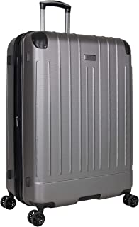 """Kenneth Cole Reaction Flying Axis 28"""" Hardside Expandable 8-Wheel Spinner Check-Size Luggage, Silver"""