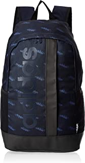 adidas Unisex' Linear Graphic Backpack, Blue/Black