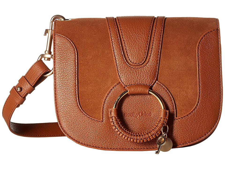See by Chloe Hana Small Suede Leather Crossbody (Carmelo) Cross Body Handbags