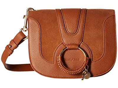 See by Chloe Hana Small Suede Leather Crossbody (Carmelo) Cross Body Handbags