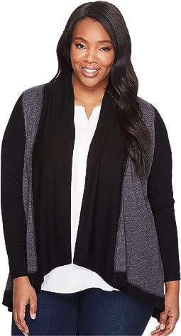 Karen Kane Plus - Plus Size Double Knit Cardigan