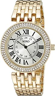 XOXO Womens Quartz Watch, Analog Display and Gold Plated Strap XO265