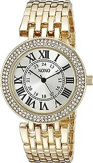 XOXO Womens Quartz Watch, Analog Display and Gold Plated Strap XO265
