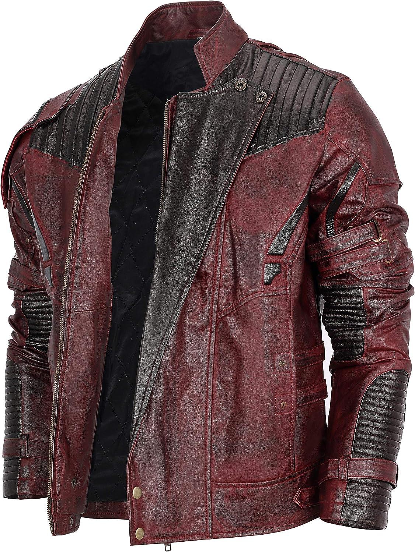 Mens Distressed Red Jacket Maroon San Antonio Mall Fresno Mall Leather