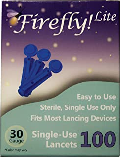 FireFly! Lite 30G Lancets - Fits Most Lancing Devices - 100 lancets per Box