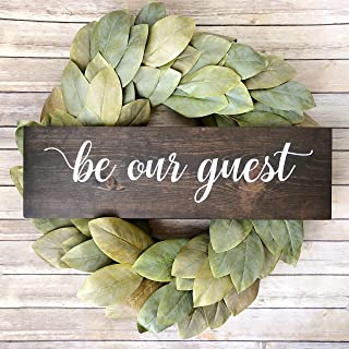 rfy9u7 Be Our Guest Sign | Guest Sign | Guest Bedroom Sign | Rustic Home Decor | Farmhouse Decor | Wood Sign | Custom Sign