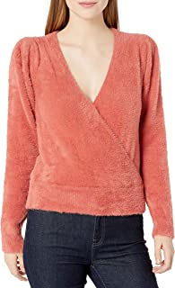 ASTR the label Women's Long Sleeve SHERESA Surplice V-Neck Sweater