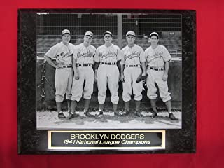 1941 Brooklyn Dodgers Collector Plaque w/8x10 Rare Photo Pee Wee Reese Rookie Year