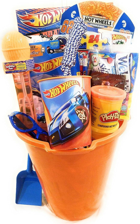 HOT Wheels Easter Basket for Kids, 18 pcs (Age 5+)