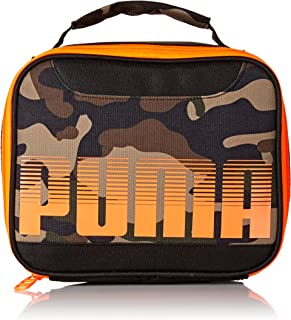 PUMA Boys' Little Backpacks and Lunch Boxes, Black/Camo, Youth