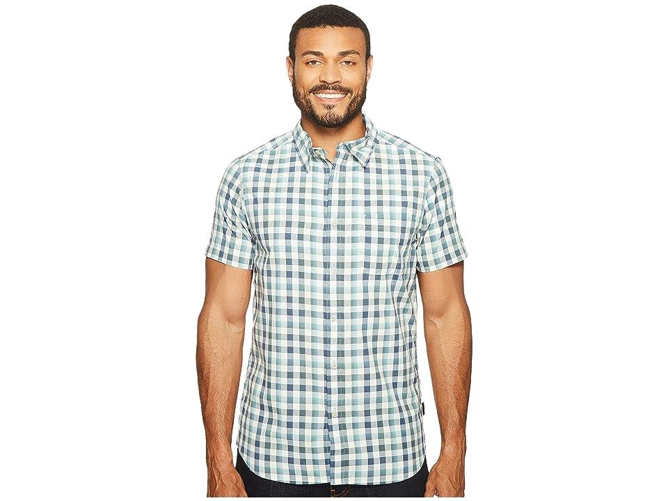 The North Face Short Sleeve Getaway Shirt (Blizzard Blue Plaid (Prior Season)) Men