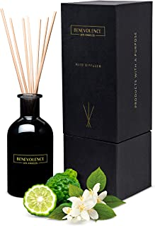 Reed Diffusers for Home | Bergamot & Jasmine Fragrance Diffuser | Aromatherapy Scented Oil Reed Diffuser Set | Sticks Diff...