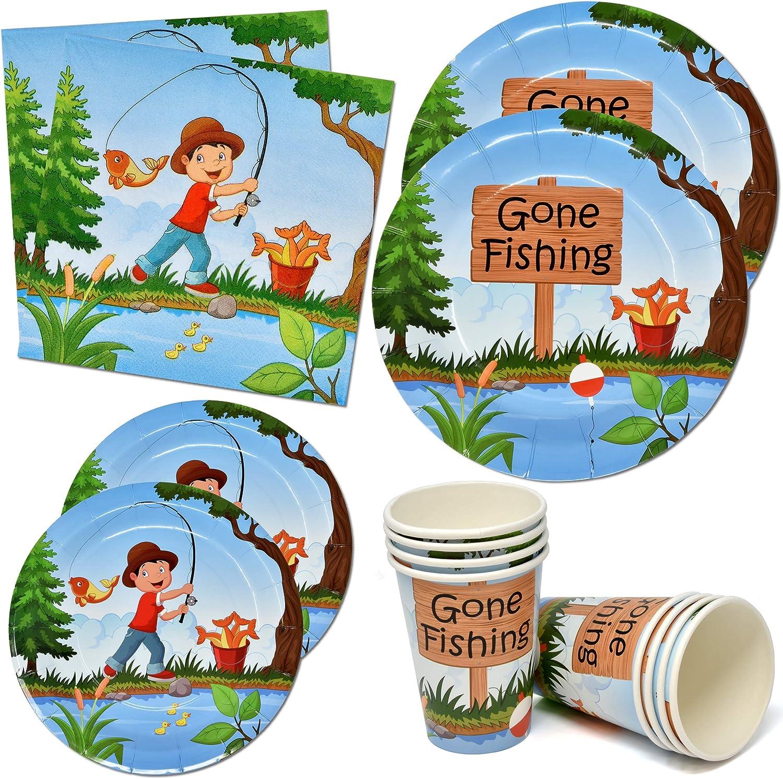 Little Boston Mall Fisherman Gone Fishing Party Tableware 9