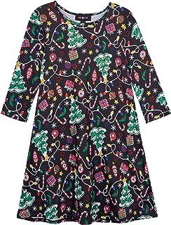 فستان Amy Byer للفتيات بتصميم سترة عيد الميلاد القبيحة اللطيفة