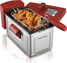 Hamilton Beach 8 Cup Fast Cooking Stainless Steel Deep Fryer with Lid | 35201