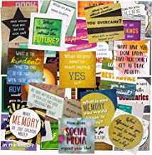 Paper Junkie Empowering Questions Meditation Cards (60 Count), Assorted Designs