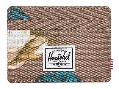 Herschel Supply Co. Charlie RFID (Vintage Floral Pine Bark) Wallet Handbags