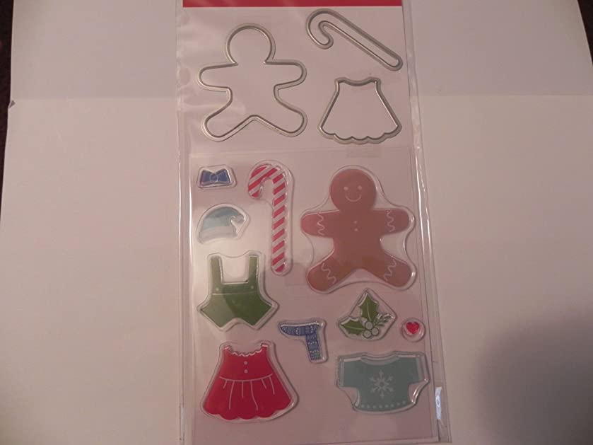 Recollections Christmas Stamp & Die, Gingerbread People