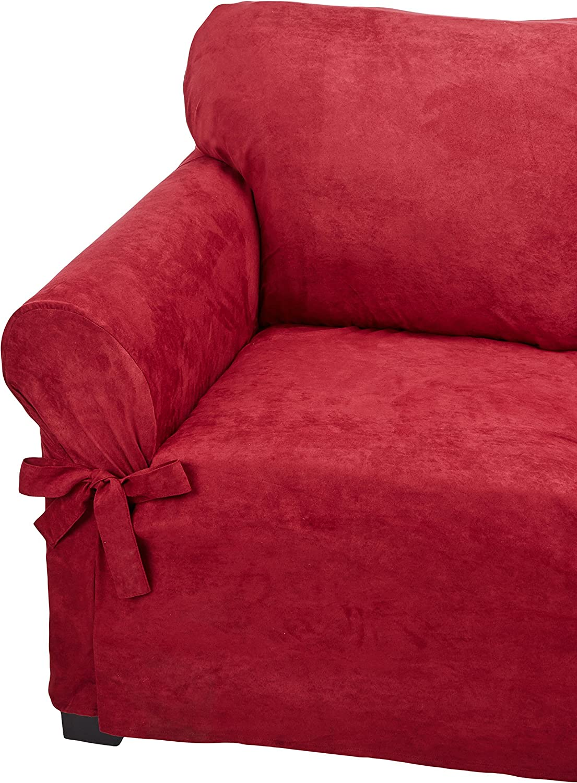 Microsuede Furniture Slipcover Jacksonville Mall Loveseat Ruby x 70 120- Weekly update