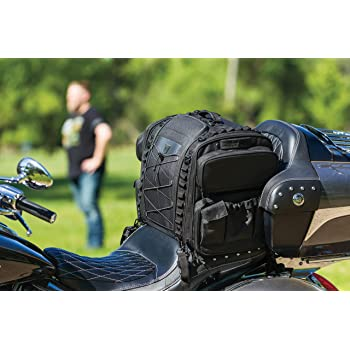 Raider Motorcycle Leather Touring Storage Luggage Bag with Removeable Roll Bag BCS-911
