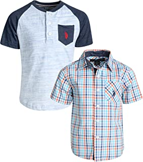 Boy's Short Sleeve Button Down Shirt 2 Piece Set