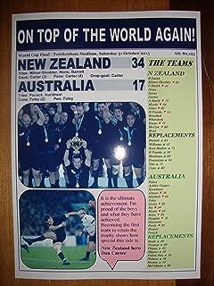 New Zealand 34 Australia 17 - 2015 Rugby World Cup final - souvenir print