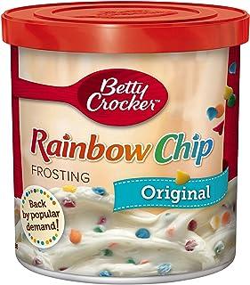 Betty Crocker Frosting, Rich & Creamy Gluten Free Frosting, Original Rainbow Chip, 16..