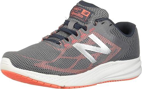New Balance Wohommes 490v6 Cushioning Running chaussures, Gunmetal, 5.5 B US