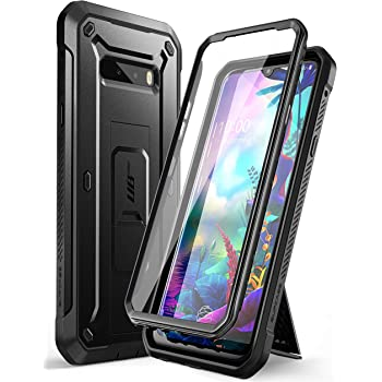 SupCase Unicorn Beetle Pro Series Case Designed for LG G8X thinQ(2019),Full-Body Rugged Holster & Kickstand Case with Built-in Screen Protector (Black).