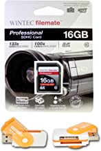 16GB Class 10 SDHC High Speed Memory Card For PANASONIC CAMCORDER SDR-H200 SDR-H40. Perfect for high-speed continuous shooting and filming in HD. Comes with Hot Deals 4 Less All In One Swivel USB card reader and