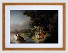 Rembrandt Abduction of Europa Framed Art Print Mount B12X1843