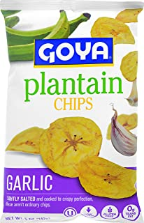 Goya Plantain Chips, Garlic, 5 Ounce
