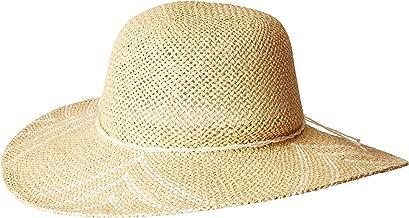 San Diego Hat Company Women's PBL3095OS Woven Paper Sun Brim w/Color Pop Pattern