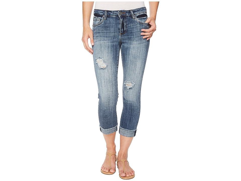 KUT from the Kloth Amy Crop Straight Leg w/ Fray Hem in Soar (Soar/Medium Base Wash) Women