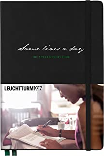 Leuchtturm1917 Special Edition Medium A5 Notebook- Some Lines a Day 5 Year Memory Book- 365 Pages, Black