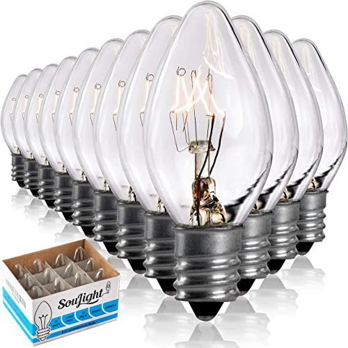 Salt Rock Lamp Bulb 10 Pack + 2 Free 15 Watt Replacement Bulbs for Himalayan Salt Lamps & Baskets, Chandeliers, Scent...