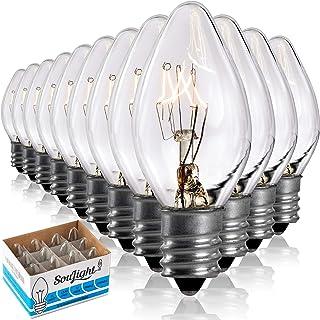 Sponsored Ad - Salt Rock Lamp Bulb 10 Pack + 2 Free 15 Watt Replacement Bulbs for Himalayan Salt Lamps & Baskets, Chandeli...