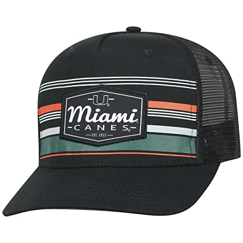 big sale 8de18 9fc13 Top of the World Miami Hurricanes Official NCAA Adjustable Route Mesh  Trucker Hat Cap Curved Bill