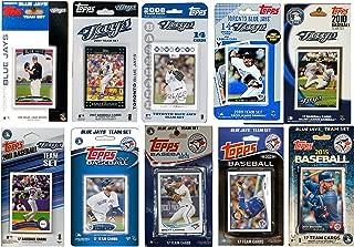MLB 多伦多蓝鸟队 10 种不同的*集换卡队套装,10.16 厘米 x 17.78 厘米
