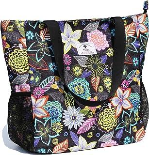 ESVAN Strandtasche Wasserbeständige große Umhängetasche Handtasche für Fitnessstudio Strand Reisetaschen für den täglichen...
