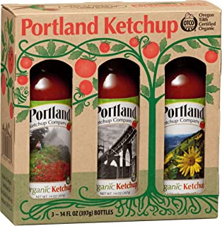 Portland Organic Ketchup Gift Box by Portlandia Foods (14 fl oz - pack of 3) Naturally Gluten-free, Vegan, non-GMO, Made i...