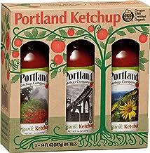 Portland Organic Ketchup Set in Festive Box by Portlandia Foods (14 fl oz - pack of 3) Naturally Gluten-free, Vegan, non-G...