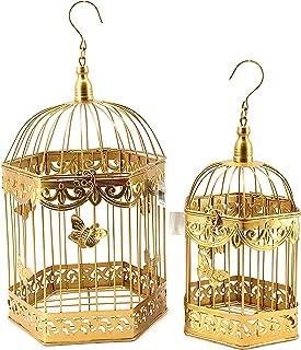 Bellaa Metal Bird Cage Set