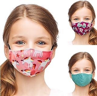 ALB Stoffe® Shield Pro Kids LAMAKI | Ademende Mondkapjes Kinderen | 3 Stuks | Antimicrobieel | Oeko-Tex Certified | Made i...