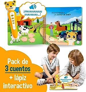 blaBOOK Pack de 3 Libros Interactivos Infantiles para Niños