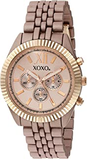 XOXO Womens Quartz Watch, Analog Display and Gold Plated Strap XO251