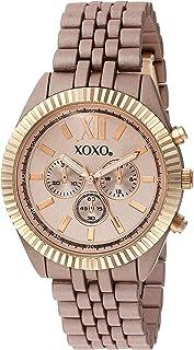 ساعة اكس او اكس او كوارتز للنساء، انالوج بعقارب وسوار مطلي بالذهب XO251